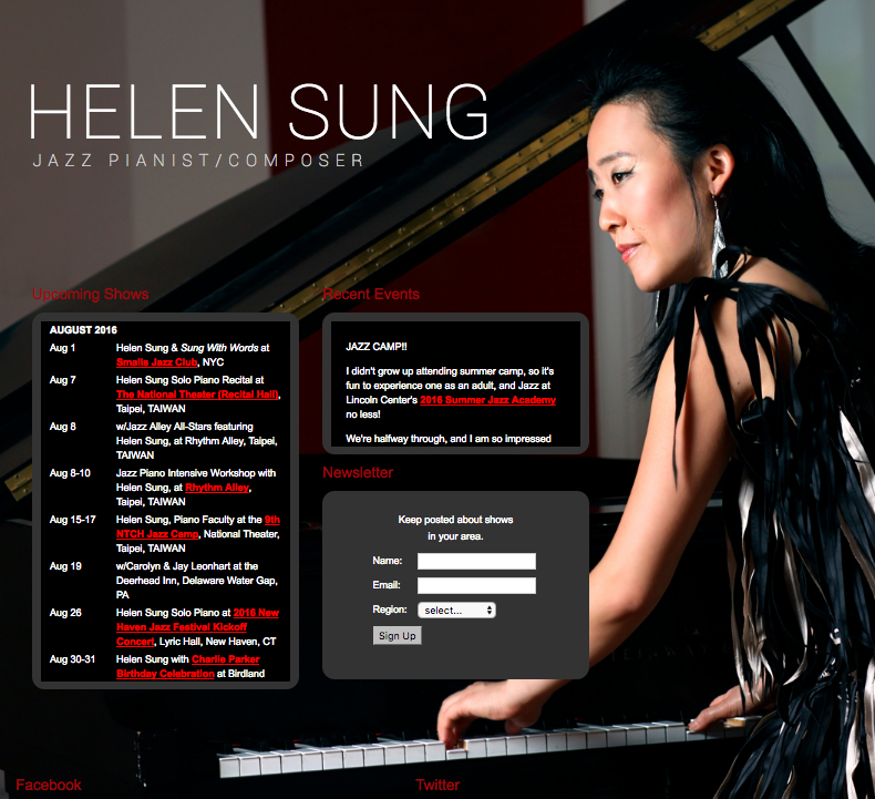 Helen Sung website by Ben Azzara