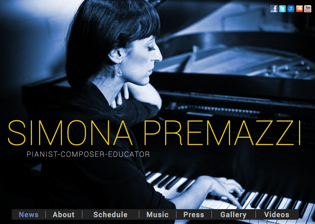 Simona Premazzi website by Ben Azzara